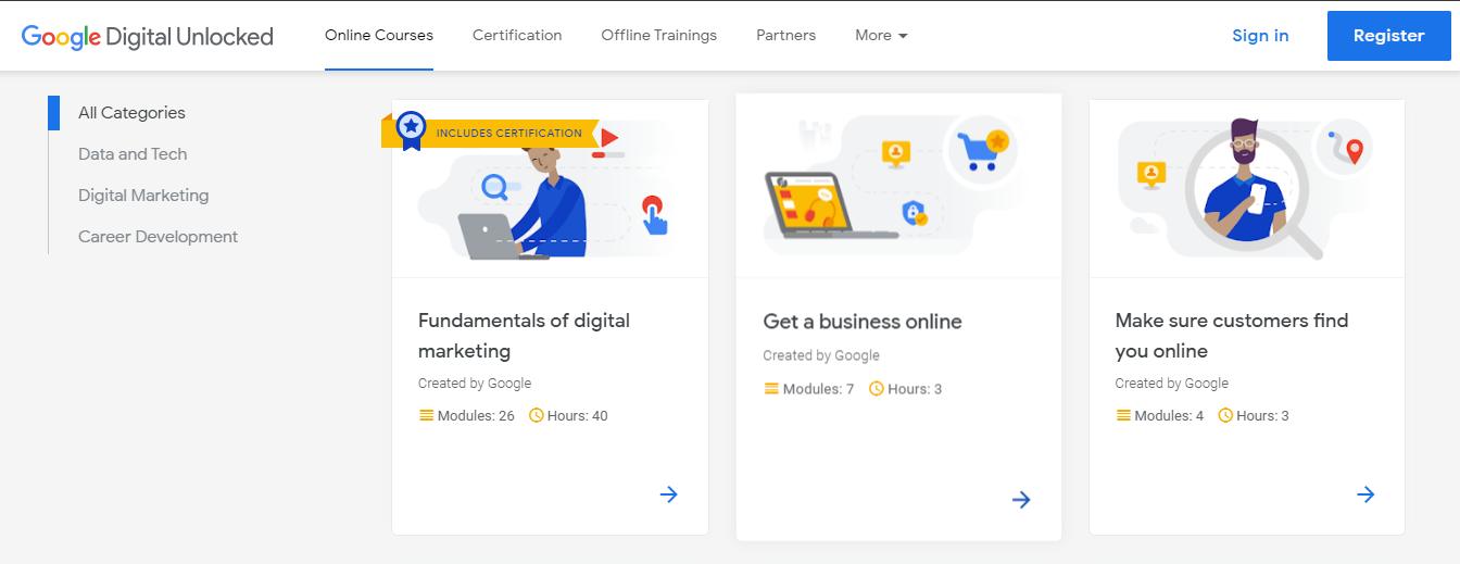 google free digital marketing course