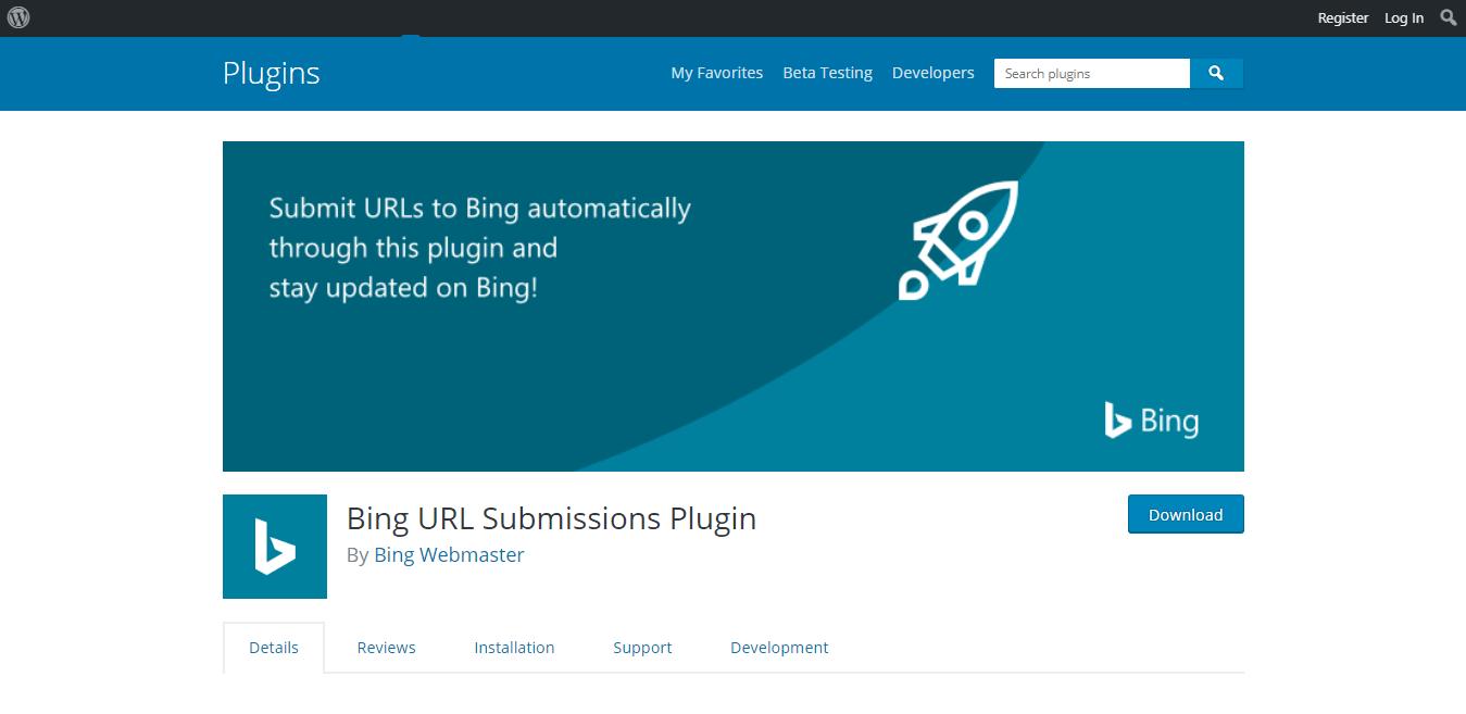 download bing url submission plugin