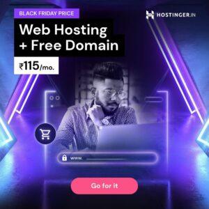 hostinger black friday promo