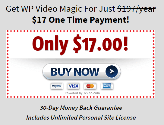 wp video magic pricing