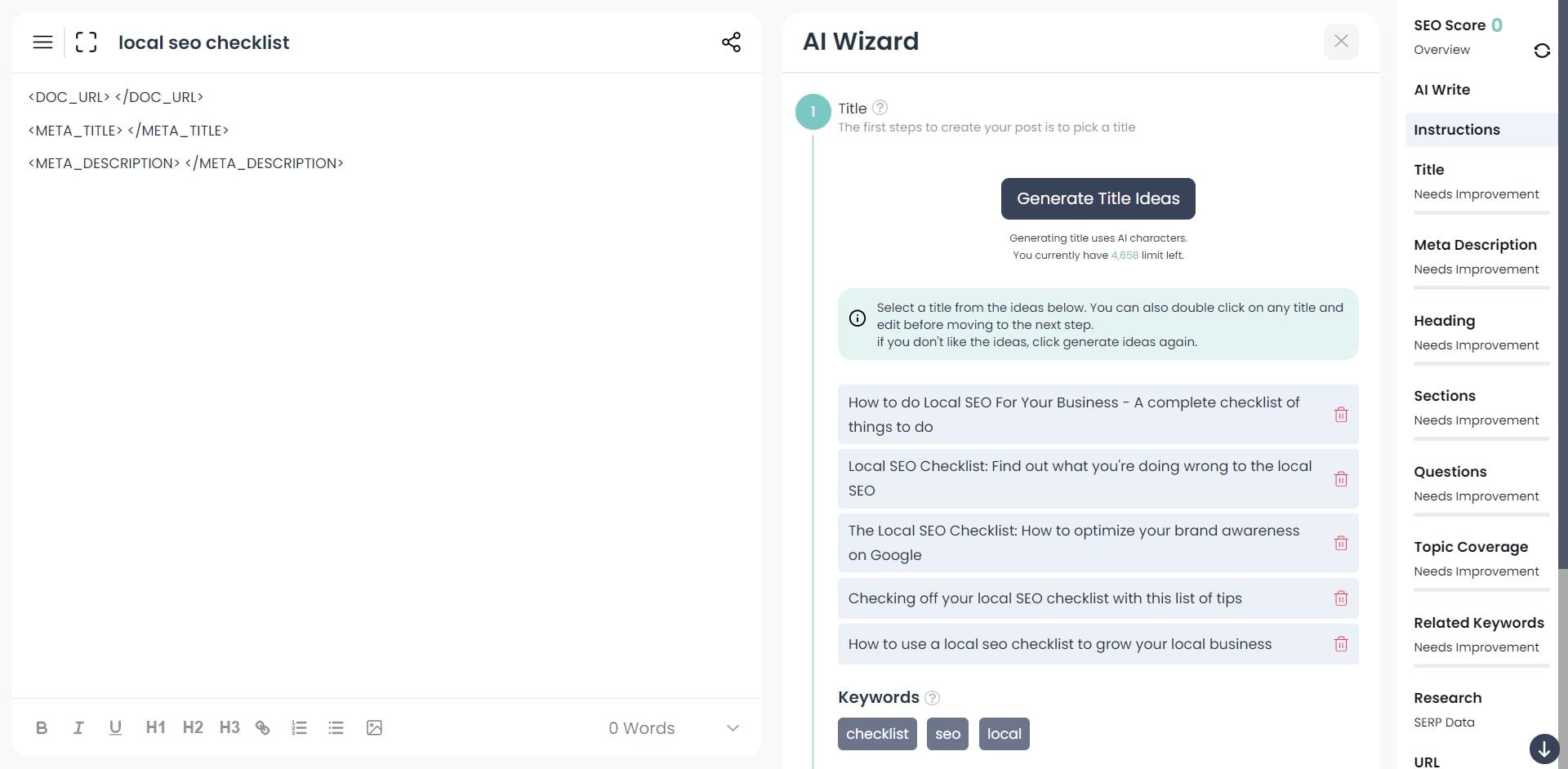generate and optimize meta title tag